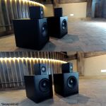 "Omnes Audio W8-670Z Subwoofer Bass Tieftöner Langhub 200mm 20cm 8"" 100W 4Ohm"