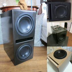 "Omnes Audio SW 6.01 Subwoofer Bass Tieftöner Langhub 165mm 16,5cm 6"" 70W 4Ohm"